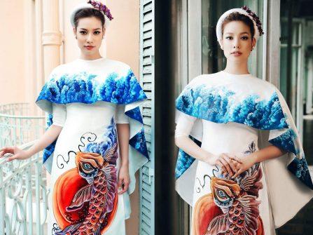 Áo dài cưới đẹp - Thoáng hương xưa cùng tà áo lụa tinh khôi