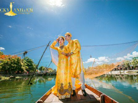 Chọn áo dài cưới tuyệt đẹp cùng Lucky Anh&Em