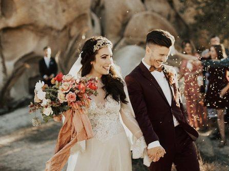 Hoa cưới hoa hồng Tây cho hôn lễ đẹp như cổ tích