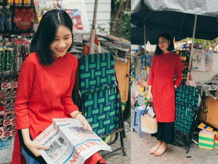 7 kiểu áo dài cách tân xu hướng mới cho cô dâu mùa Hè 2018