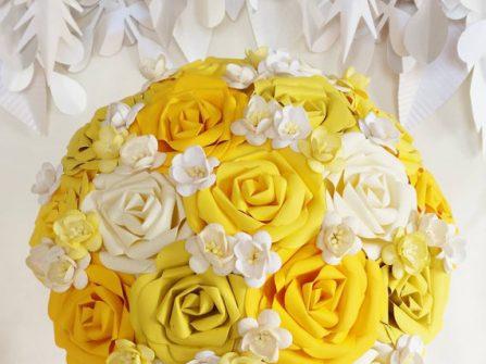 10 bó hoa cưới đẹp bằng giấy lộng lẫy chẳng kém hoa tươi