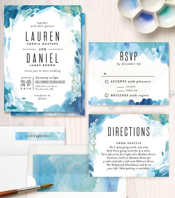 3 mẫu thiệp cưới đẹp với cảm hứng xanh mát và phóng khoáng từ biển xanh sẽ là những  lựa chọn hoàn hảo cho những đám cưới vào mùa hè này.