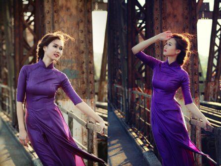 Áo dài màu tím Huế - Nét dịu dàng pha lẫn trầm tư