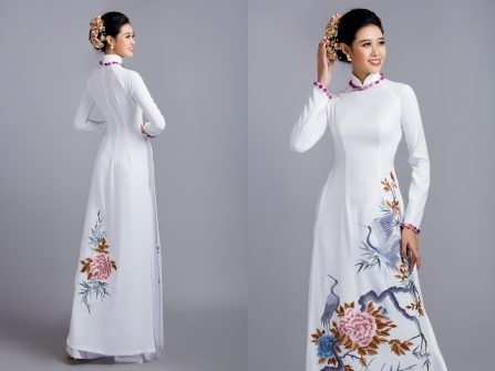Áo dài cưới đẹp - Những sắc màu kiêu sa cho cô dâu mới