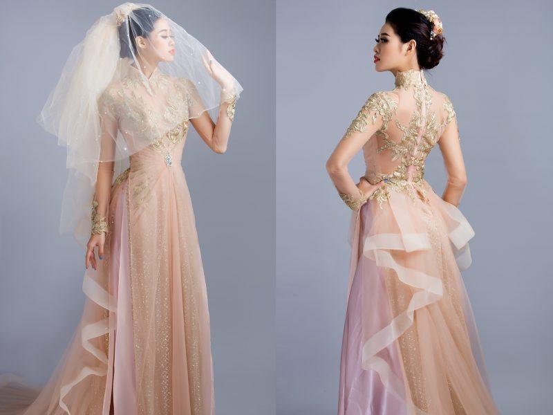 Tham khảo những mấu áo dài cưới đẹp ngây ngất từ thương hiệu áo dài danh tiếng Minh Châu.