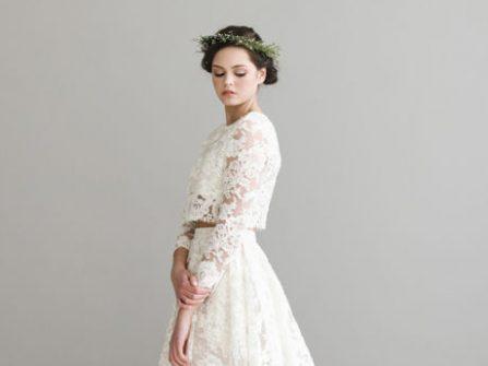 Váy cưới đẹp - 10 thiết kế 2 mảnh tuyệt đẹp cho cô dâu hiện đại