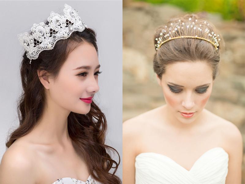 vương miện cô dâu đẹp phong cách hoàng gia
