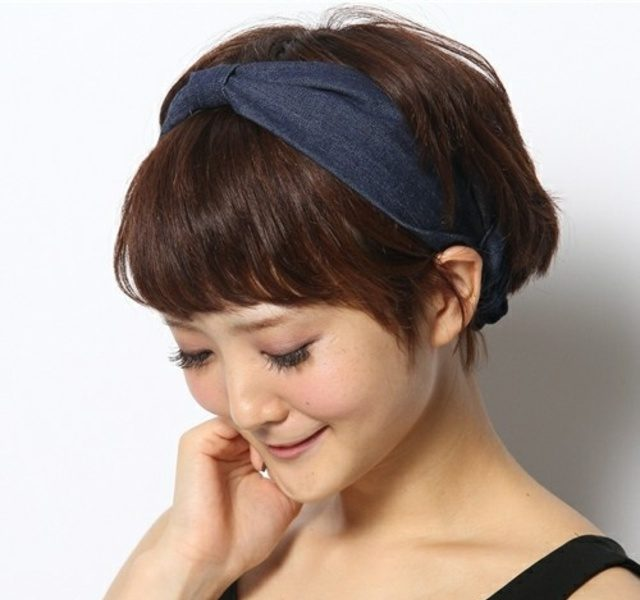 băng đô turban làm đẹp tóc ngắn 4