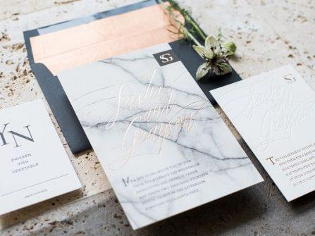Theme cưới đẹp - Trang trí sáng tạo cùng đá cẩm thạch