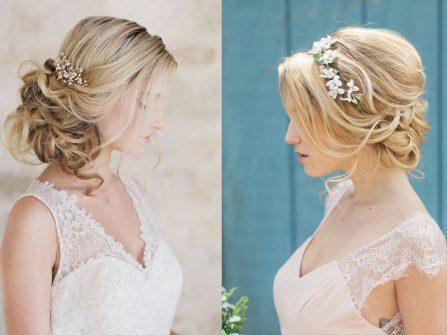 5 cách bới tóc cô dâu đơn giản phong cách Pháp lãng mạn