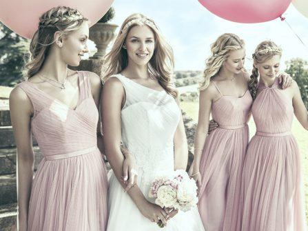 Váy phụ dâu đẹp mang tông hồng Pale Dogwood mộng mơ