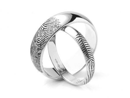 Nhẫn cưới đẹp - BST nhẫn cưới chạm khắc dâu vân tay ấn tượng