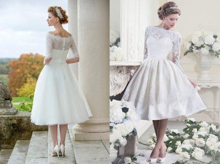 Chọn váy cưới ngắn duyên dáng cho hôn lễ ngày Hè