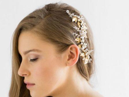 Tóc cô dâu - Hoa cài mái tóc tô điểm dung nhan