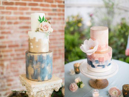 Hôn lễ như triển lãm nghệ thuật với bánh cưới đẹp tựa tranh vẽ