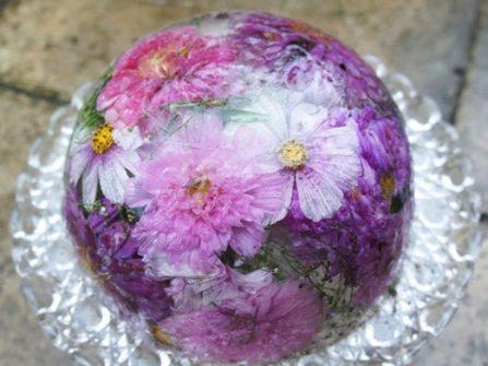 Hoa cưới đẹp - Độc đáo tiệc cưới với hoa trong băng
