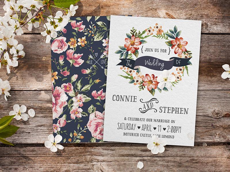 thiệp cưới đẹp hoa cỏ mùa hè 1