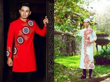 Áo dài cưới đẹp - áo dài nam lịch lãm