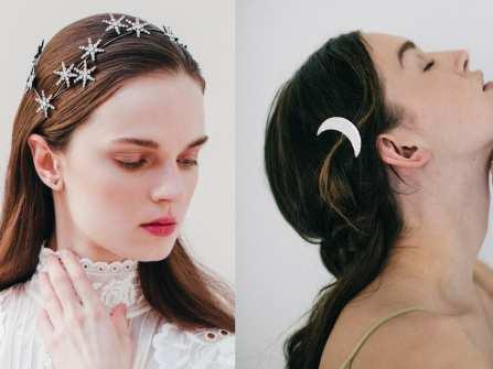Tóc cô dâu - Điểm tô nhan sắc cùng vương miện trăng sao