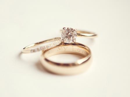 Nhẫn cưới khắc chữ - Phong vị trang sức cưới lạ mà quen