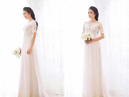 Gợi ý mẫu áo dài đám hỏi đẹp và mát cho cô dâu mùa nóng