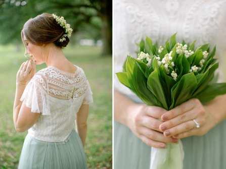 Hoa linh lan mơ màng cho hôn lễ đậm màu miền đồng cỏ