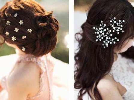 Phụ kiện tóc cô dâu thường chọn cho ngày cưới rạng ngời