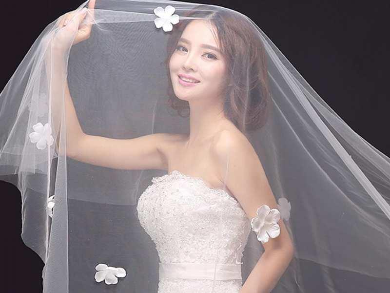 khăn voan cô dâu dài 8