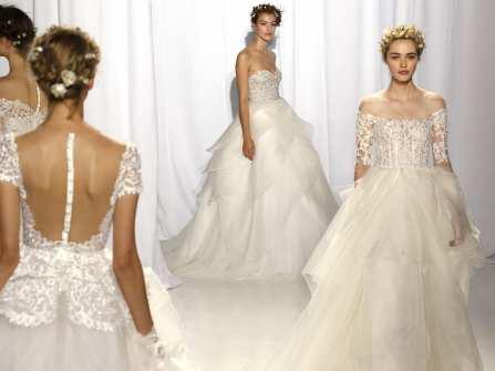 BST Váy cưới ren xuyên thấu quyến rũ từ Reem Acra
