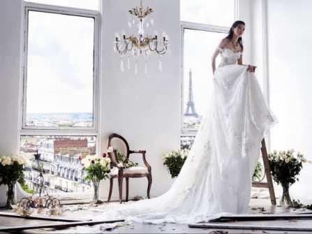 Sành điệu ngày cưới với váy cưới hàng hiệu xa xỉ