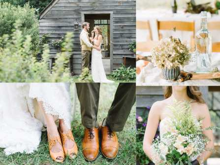 Trang trí tiệc cưới phong cách gỗ mộc miền đồng thảo