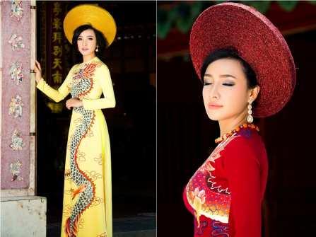 Chọn áo dài cưới truyền thống cùng mỹ nhân La Bê La