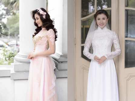 Nguyệt Ánh đẹp kiêu sa trong tà áo dài cưới truyền thống
