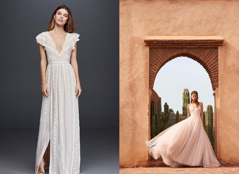 Váy cưới màu hồng phấn 1
