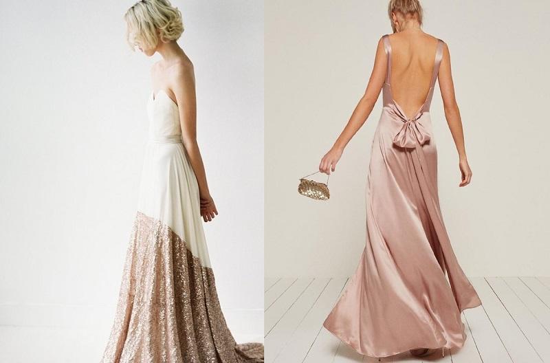 Váy cưới màu hồng phấn 2