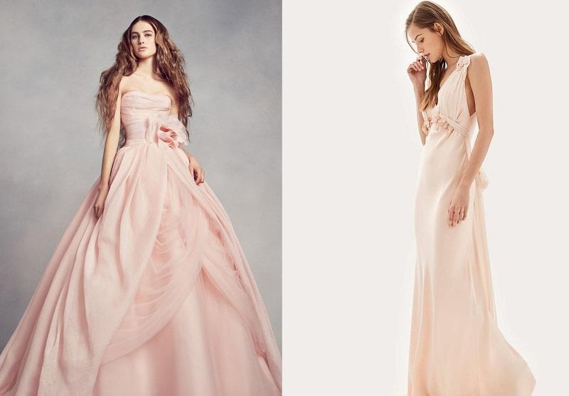 Váy cưới màu hồng phấn 4