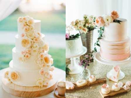 Bánh cưới đẹp trang trí hoa tươi đa sắc lộng lẫy