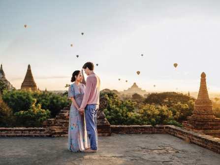 Chụp hình cưới ngoại cảnh đẹp đến nao lòng ở Bagan