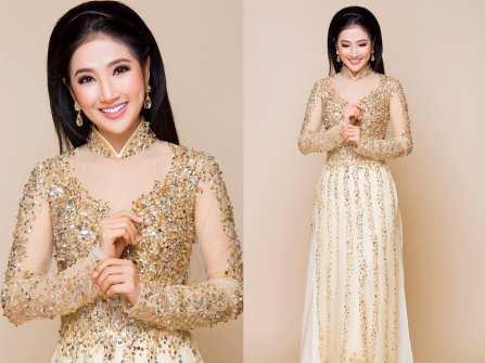 Chọn áo dài cưới đẹp cùng mỹ nhân Quỳnh Lam