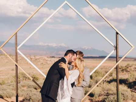 Cổng hoa cưới đẹp với thiết kế