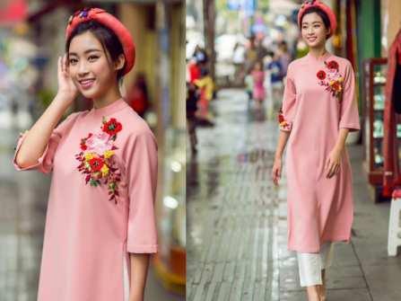 Áo dài cách tân đẹp điểm tô sắc hồng ngọt ngào cho ngày Hè