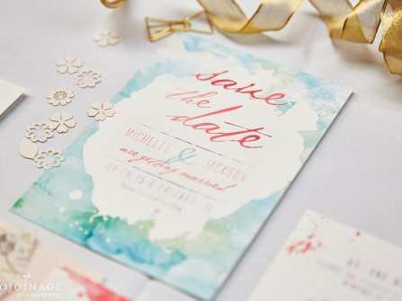 Thiệp cưới Vintage với tông màu pastel dịu dàng ngọt ngào