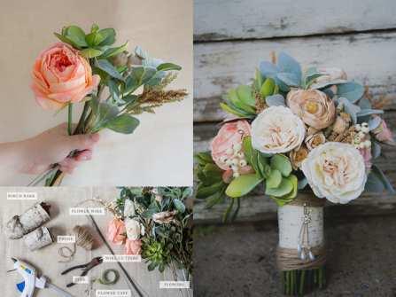 Cách bó hoa cầm tay cô dâu bằng hoa giả xinh như thật