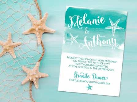 Các mẫu thiệp cưới đẹp lấy cảm hứng từ đại dương
