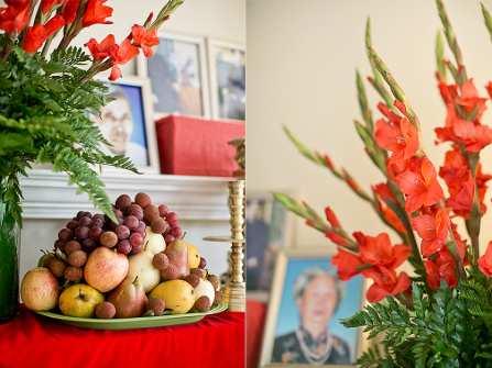 Lưu ý khi cắm hoa lên bàn thờ gia tiên ngày cưới