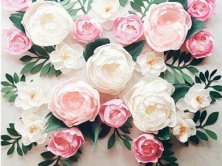 Cách làm hoa giấy đơn giản sống động như thật cho đám cưới