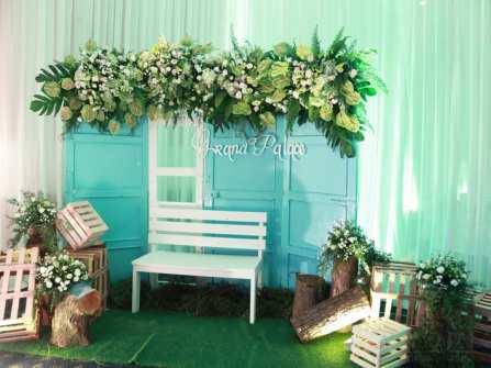 Trang trí tiệc cưới theo chủ đề: THE SOULMATE (TRẮNG - XANH)