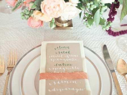 Gợi ý các mẫu thực đơn đám cưới theo từng phong cách tiệc