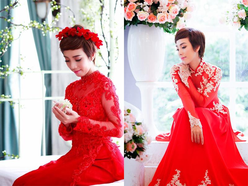 kiểu tóc cô dâu mặc áo dài 9