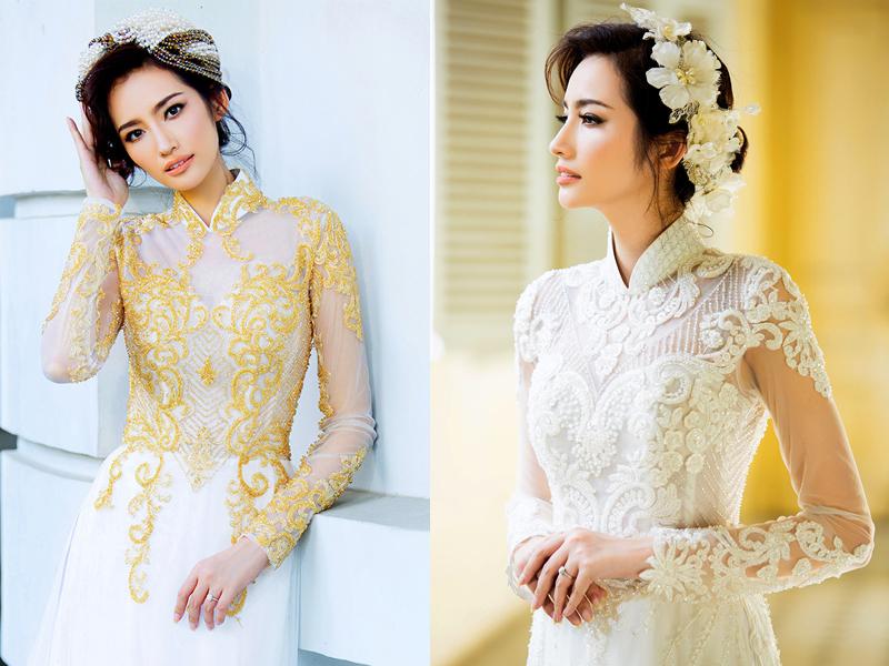 kiểu tóc cô dâu mặc áo dài 4